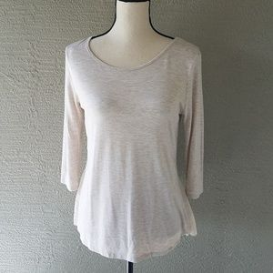 Anthropologie Pebble and Stone Cream Blouse